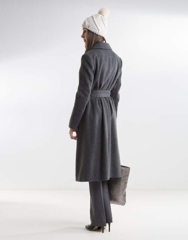 Gray structured coat