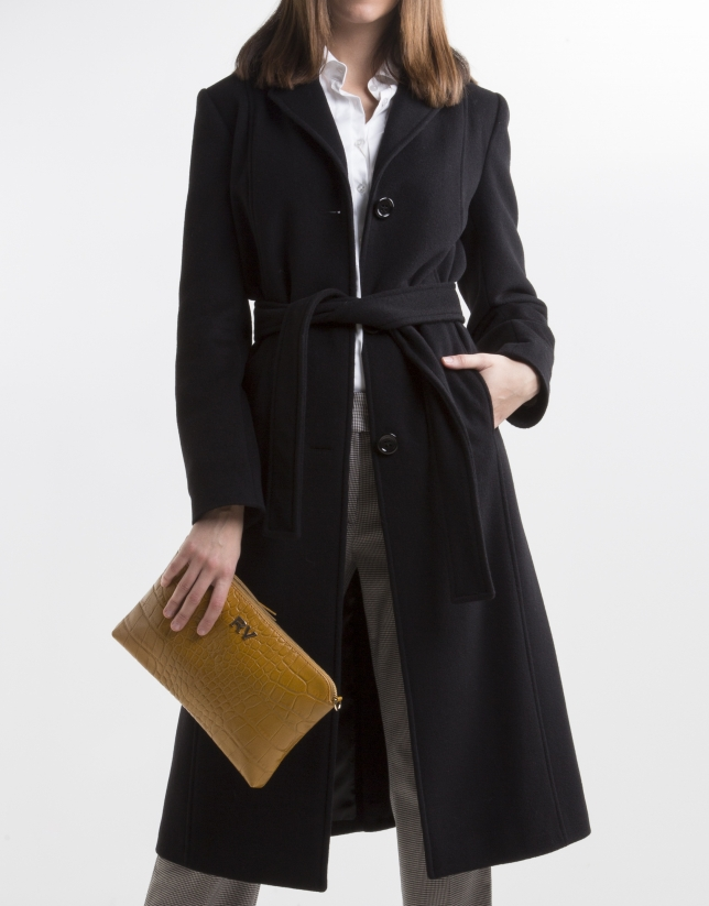 Black structured coat