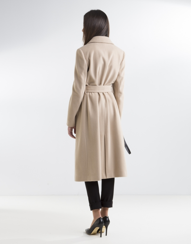 Camel structured coat