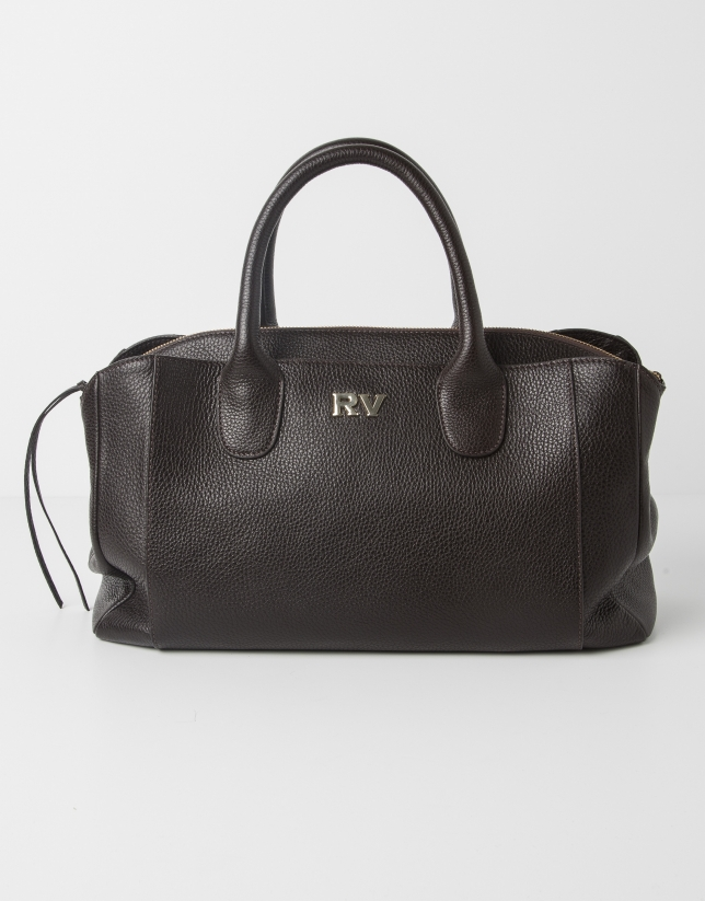 Sac Satchel en cuir marron