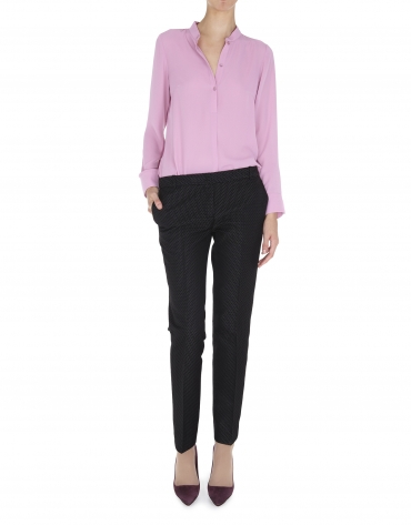 Pink sheer blouse with three buttons