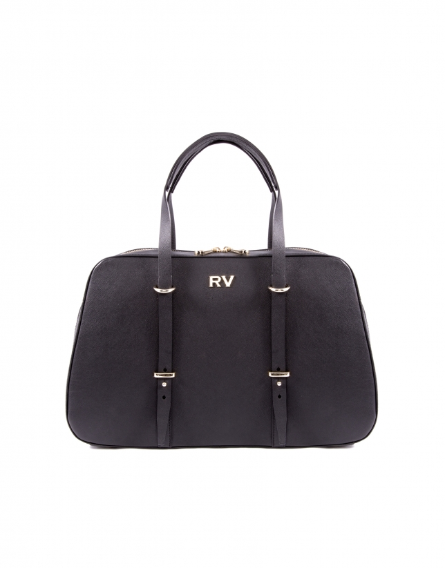 Adrian black Saffiano leather bag
