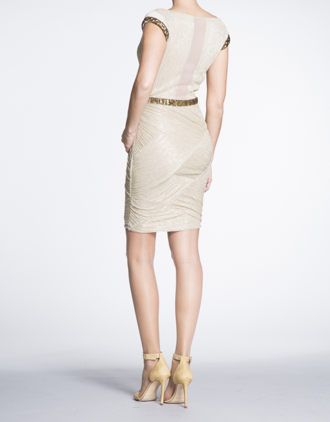 Short gold party dress