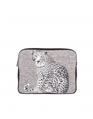 Felix Stone leopard wool print.
