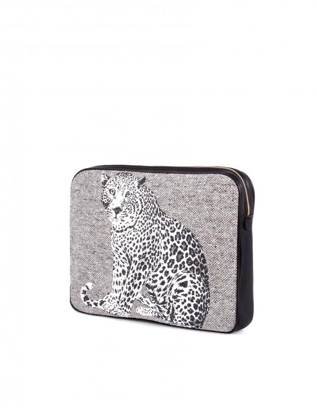 Bolso Clutch Felix Stone print leopardo