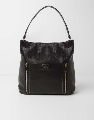Buffalo leather shopping bag