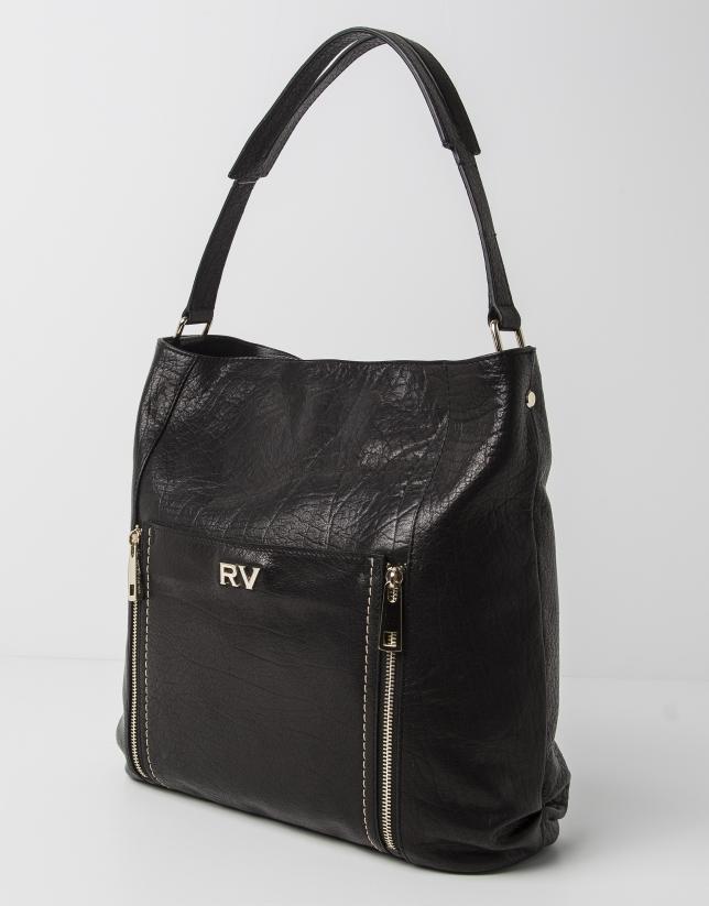 Buffalo leather shopping bag