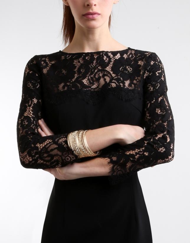 Vestido negro con encaje