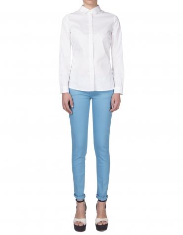White backstitched shirt