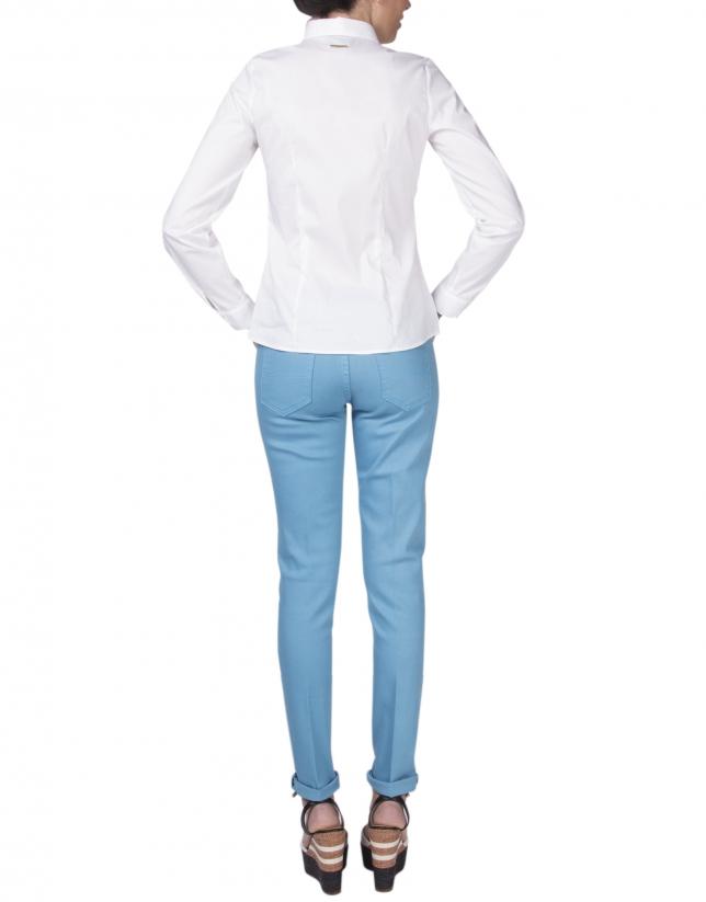 Camisa blanca pespuntes