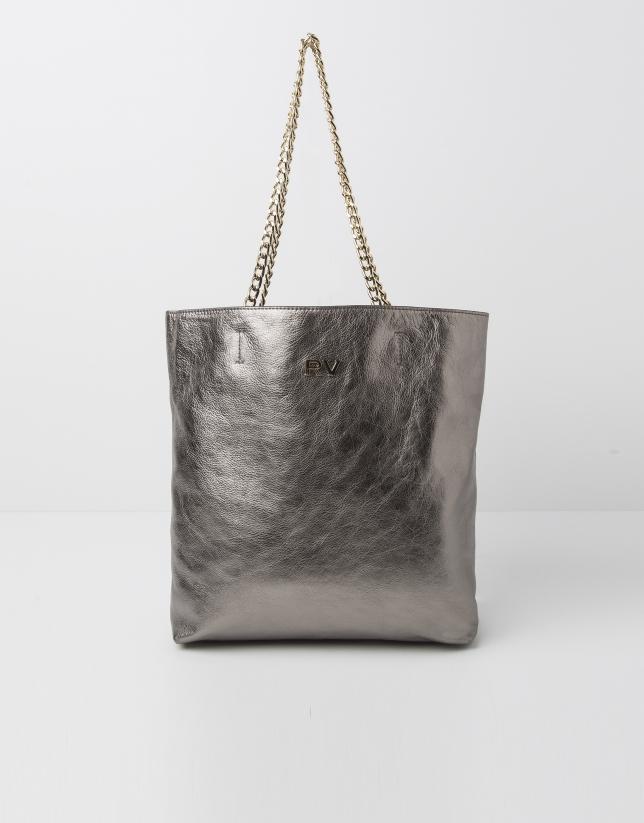 Shopping piel metalizada
