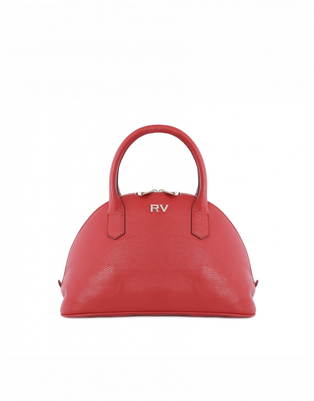 Red cowhide bowling bag