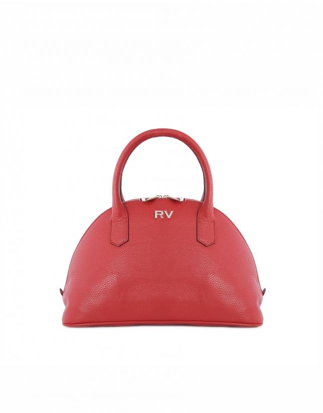 Red cowhide bowling bag