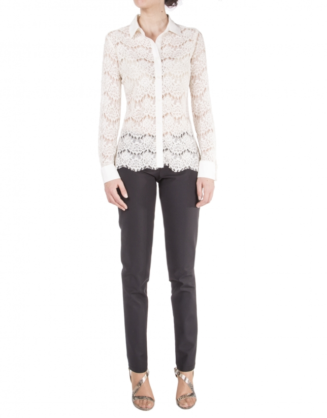 Long sleeve lace shirt