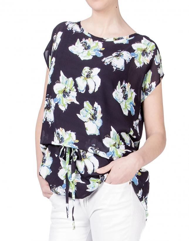 Blusón estampado floral