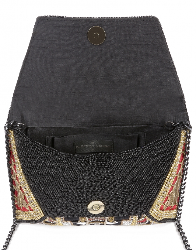 Beaded embroidery courier bag