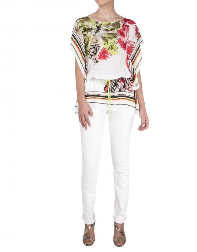 Loose print blouse