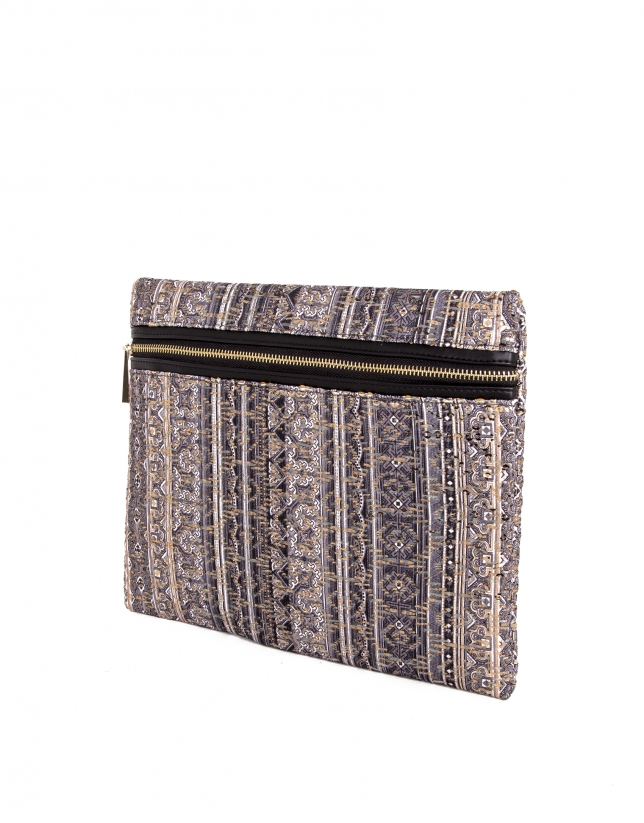 Jacquard courier bag