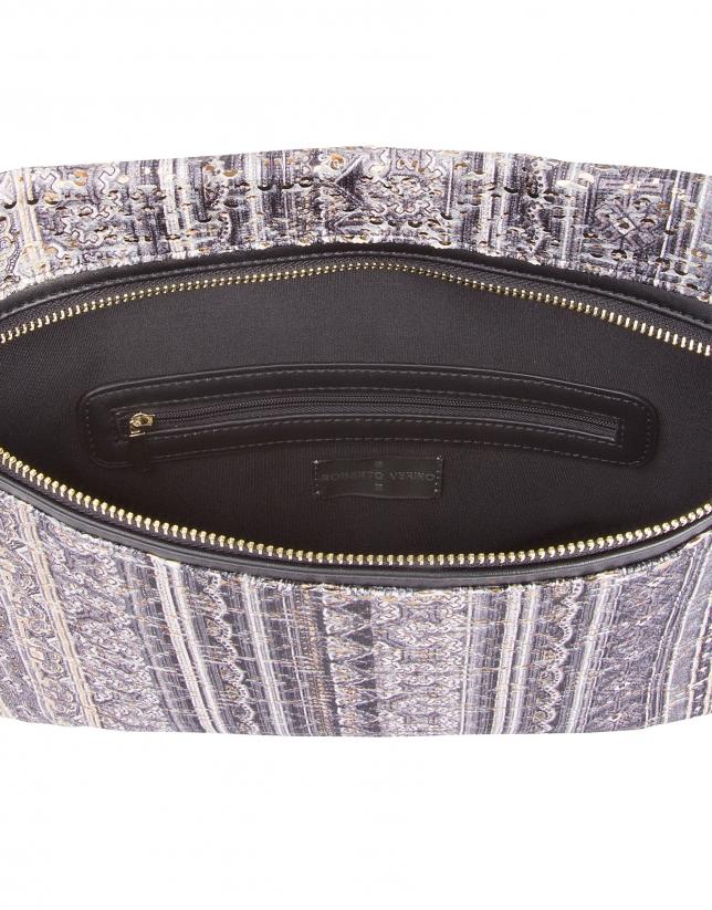 Jacquard courier bag