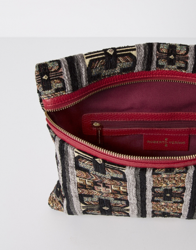 Jacquard messenger bag