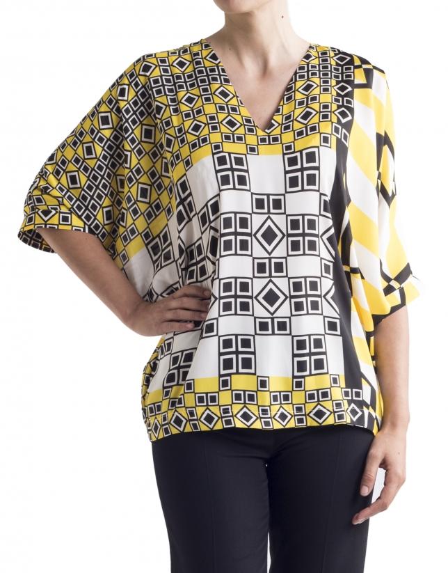 Tunique à motif géométrique