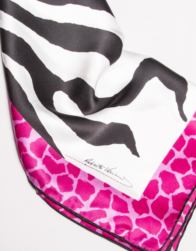 Fuchsia zebra scarf