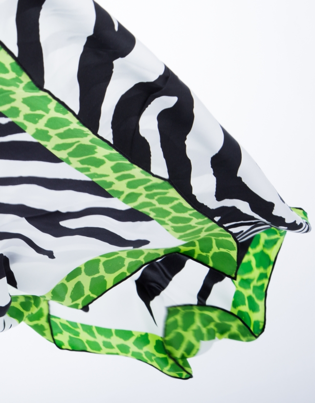 Green zebra scarf