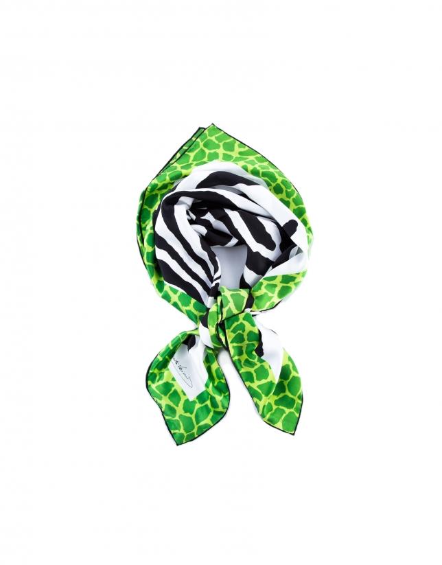 Foulard zébré vert
