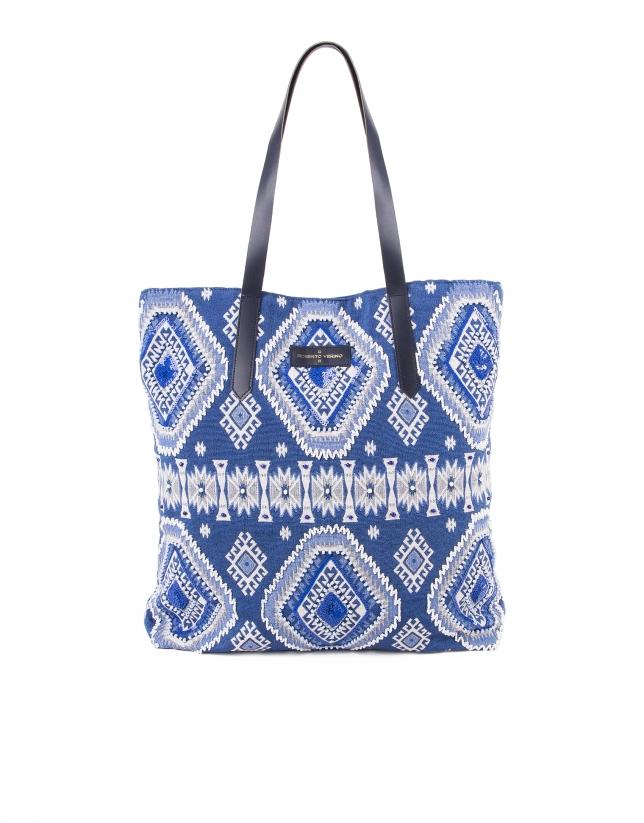 Aztec print shopping bag