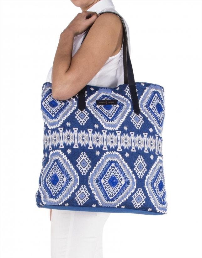 Aztec print shopping bag