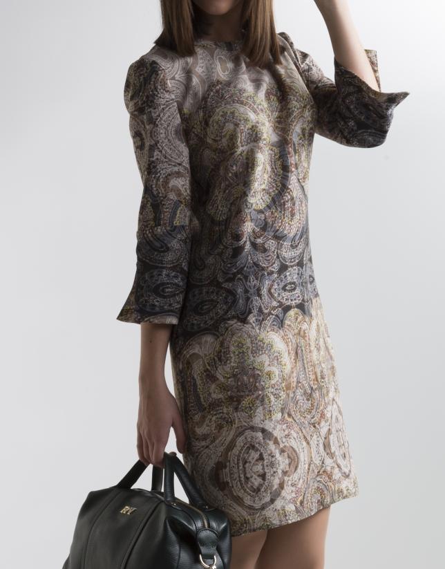 Robe patchwork verte