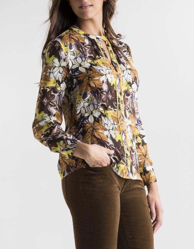 Blusa estampado floral mostaza  Blusa estampado floral mostaza ... f4b2cf26be4fc