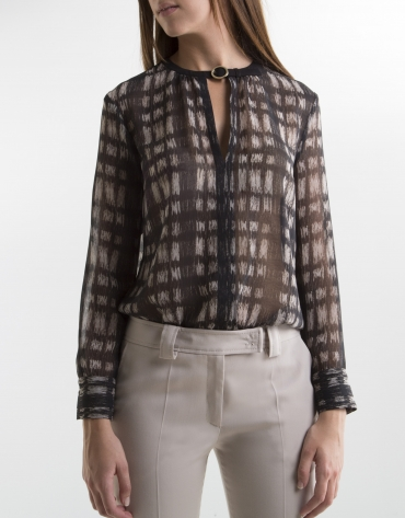 Grey checked blouse