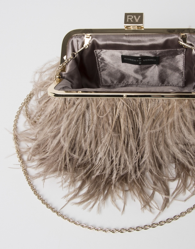 Bolso Royal plumas