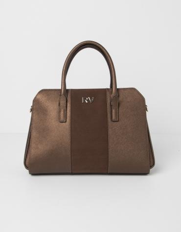Mini tote marrón
