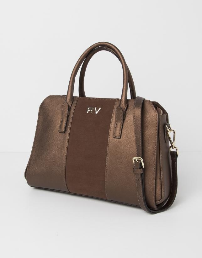 Mini brown tote bag