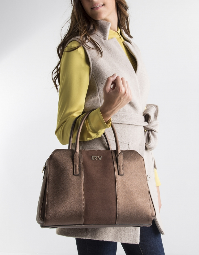 Mini sac  Tote marron