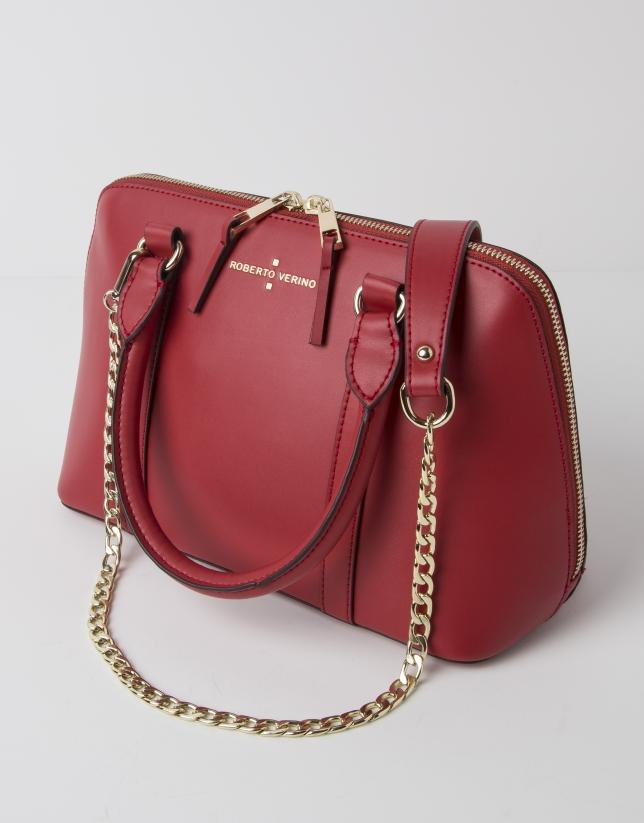 Mini red tote bag