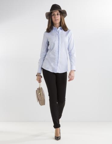 Camisa algodón azul
