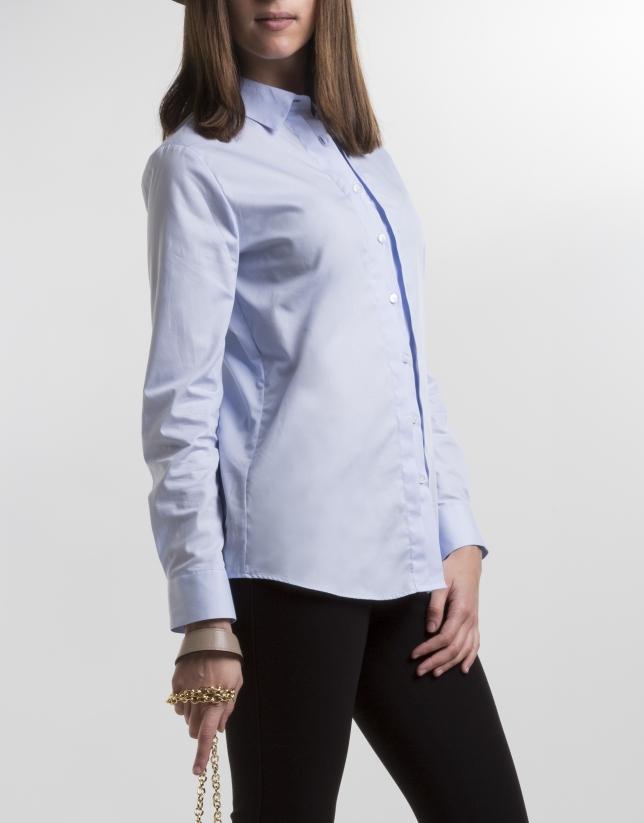 Chemise bleue en coton