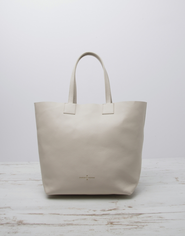 White Uve shopping bag