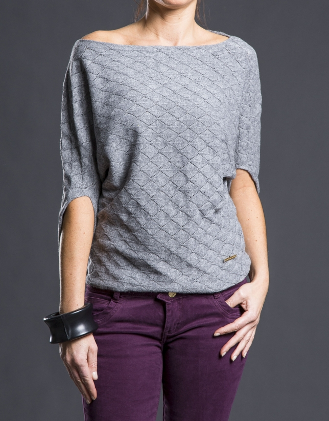 Grey bee hive sweater