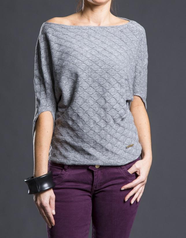 Grey bee hive sweater