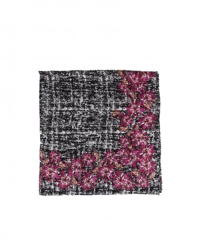 Foulard, imprimé floral