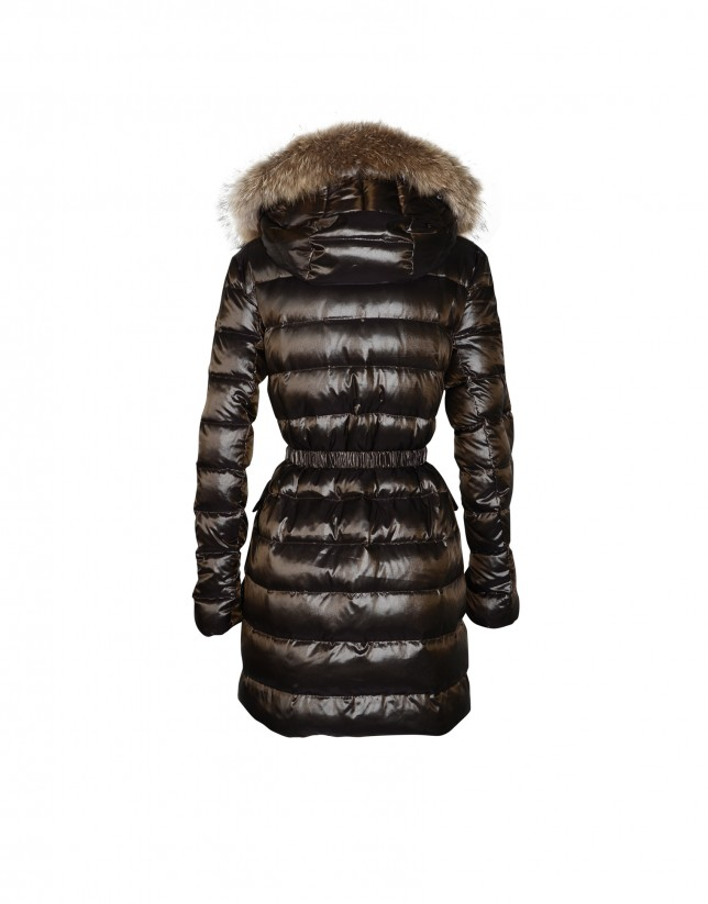 Brown reversible padded coat