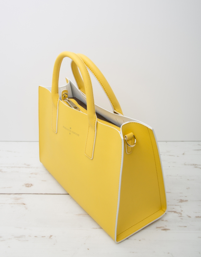 Yellow Montpellier shopping bag