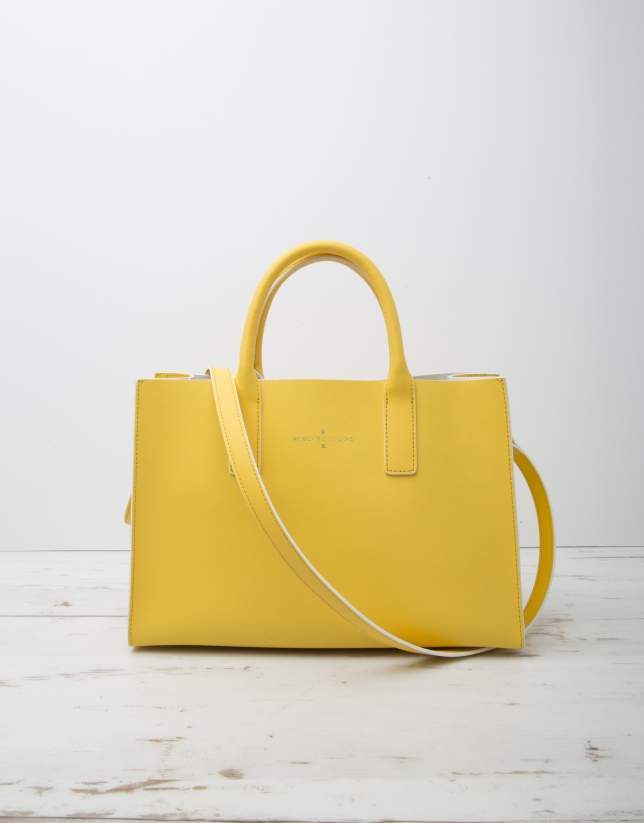 Bolso shopping Montpellier amarillo