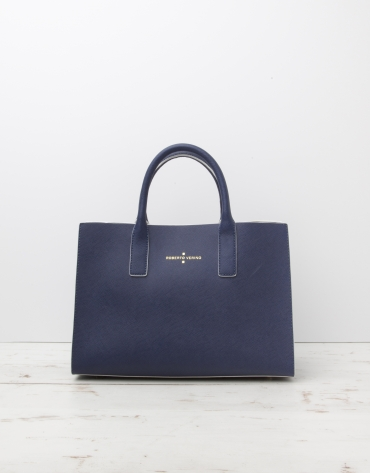 Blue Montpellier shopping bag