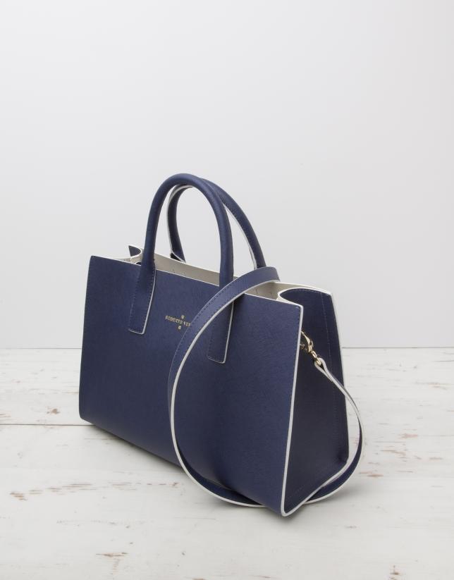 Blue Montpellier shopping bag