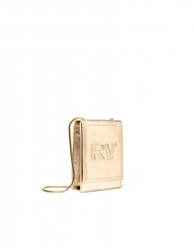 Gold leather mini Eme shoulder bag